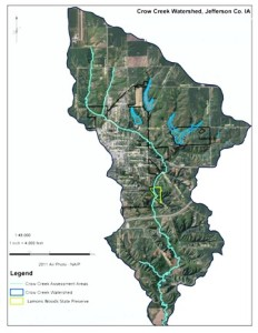 Map of the Crow Creek Watershed