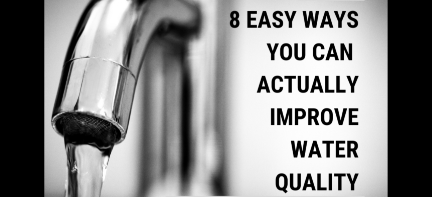 How to improve water quality, image of a running water faucet